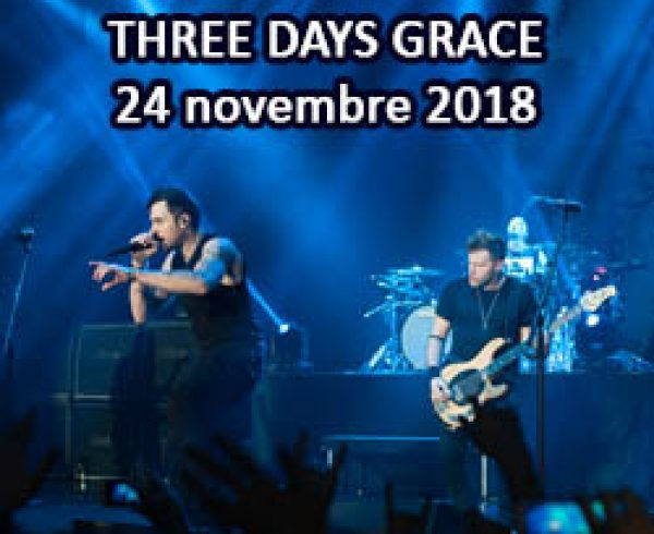 Three Days Grace à Québec 2018